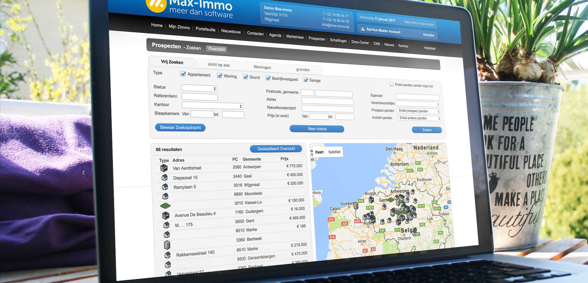 Max-Immo software prospect manager