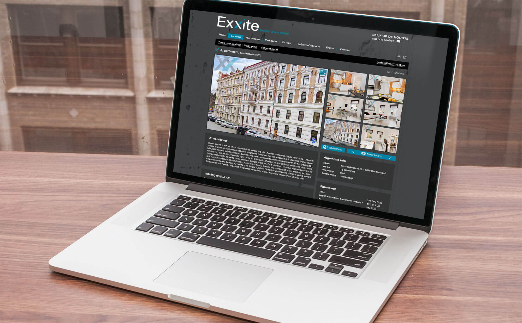 Referentie service website Exxite